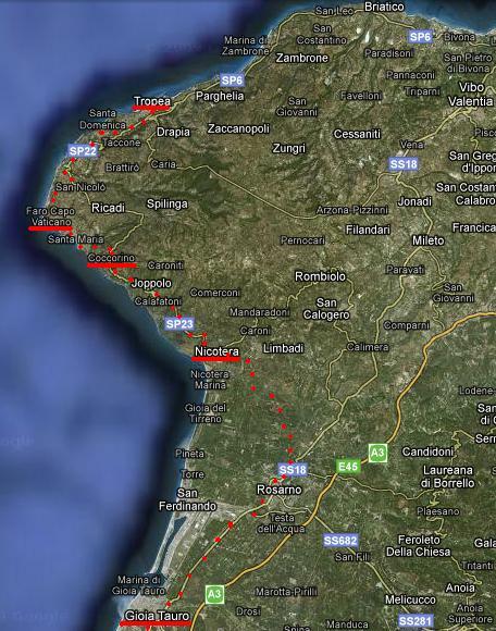 trasa Taureana-Tropea