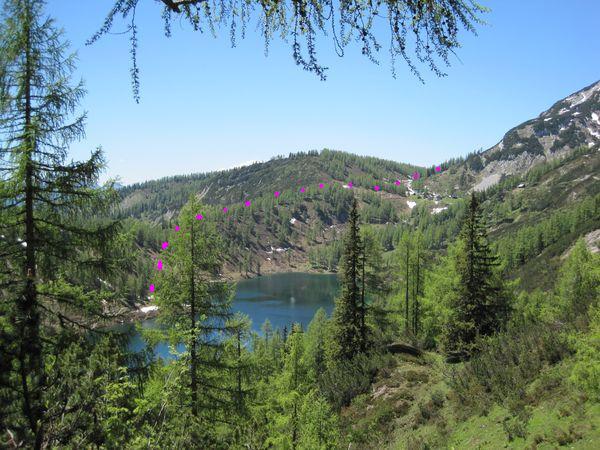 cesta na Tauplitzalm ke Großsee