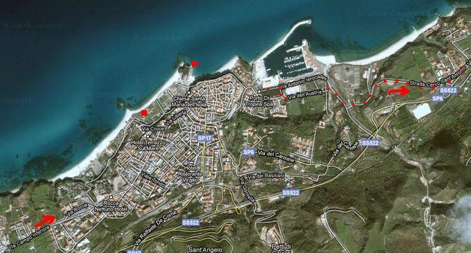mapa rekreační zóny Tropea