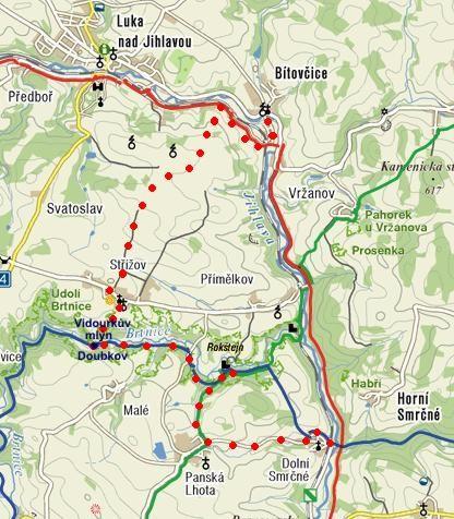 trasa vánoční vycházky s Ivou 28.12.2011