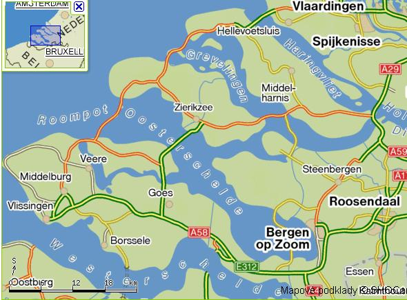 mapka provincie Zeeland