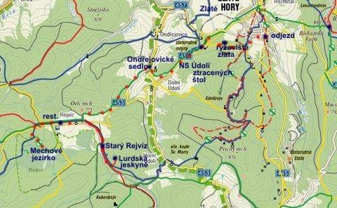 z Rejvízu přes Ondřejovice a zlatorudné mlýny do Zlatých Hor 9.10.2010