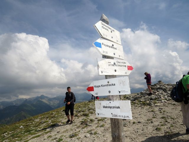 vrchol Malolučniaku ve výšce 2096 m