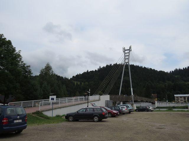lávka přes Dunajec - přechod z Polska na Slovensko