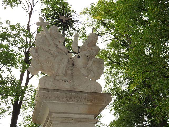 originál sochy z roku 1768 je v klášterním kostele