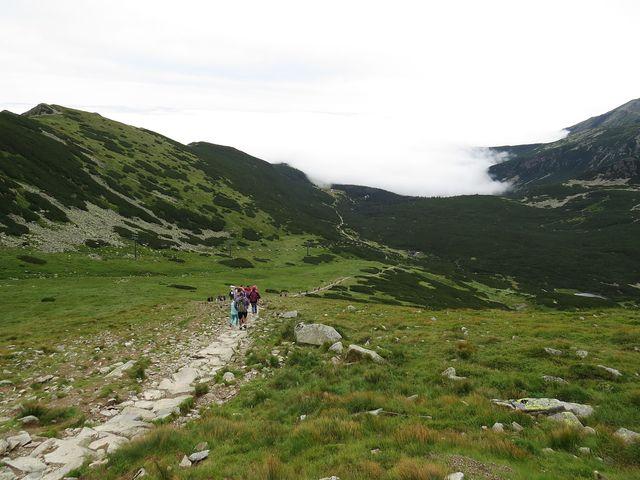 stezka k chatě Murowaniec - počasí se kazí