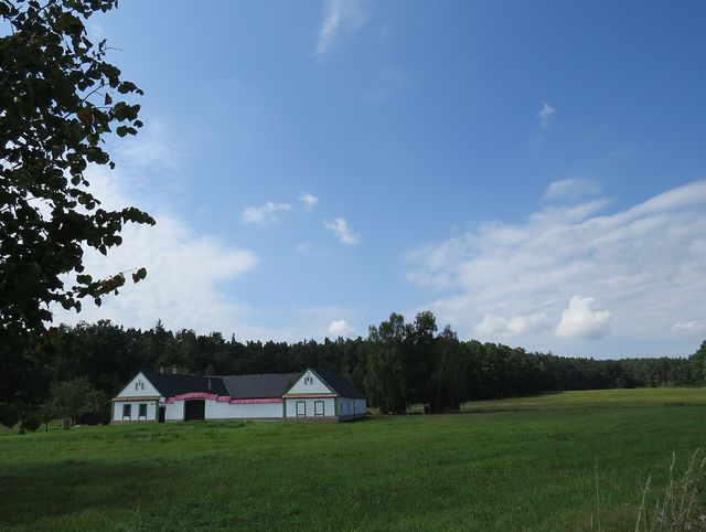 usedlost Odměn - typická stavení na Třeboňsku