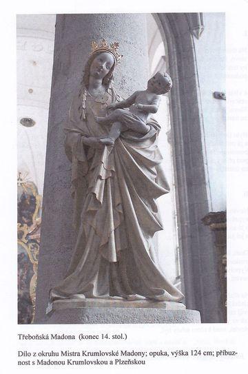 Madona Třeboňská z kostela sv. Jiljí - obrázek z Knížky vandrovní