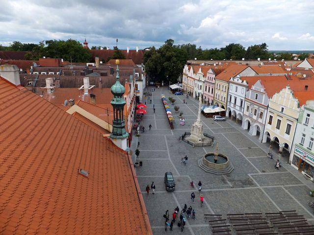 třeboňské náměstí z radniční věže - foto I. Svobodová