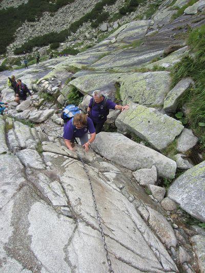 M+M při výstupu u vodopádu Skok - foto J. Korbel