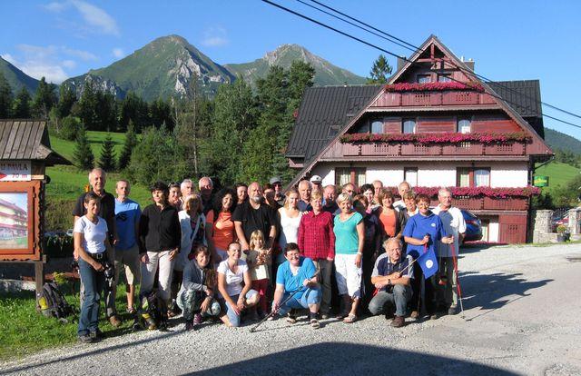 turisté při odjezdu ze Ždiaru - foto M. Bradová