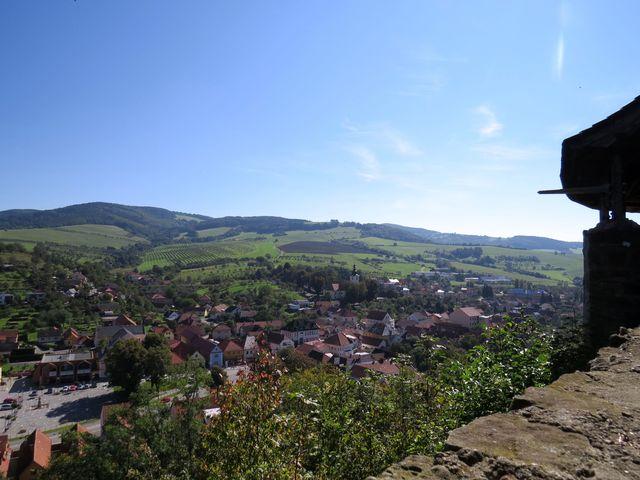 pohled na městečko Brumov z hradu