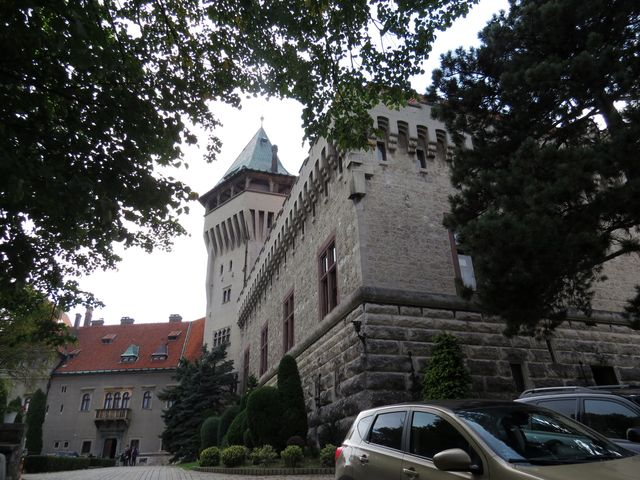 nádvoří Smolenického zámku