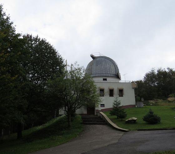 hvězdárna na hřebeni Malých Karpat