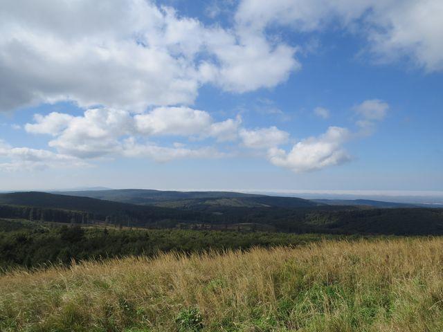 výhled na karpatské kopce