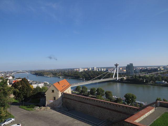 Dunak z terasy Bratislavského hradu