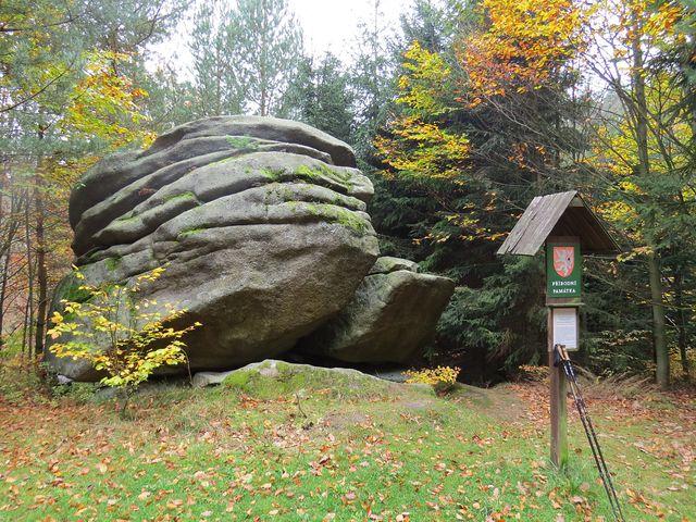 Čertův kámen na jižním svahu Melechova