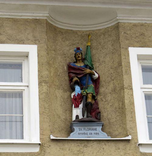 socha sv. Floriána ve Žďáře nad Sázavou