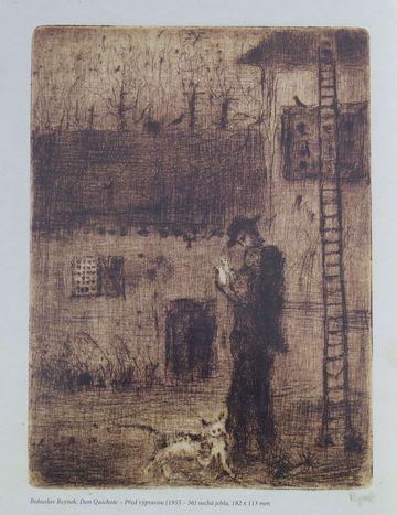 Před výpravou (1955-56), suchá jehla, Don Quijote - Bohuslav Reynek