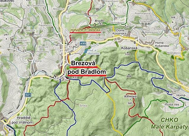 Bradlo u Březové, kde je mohyla M.R. Štefánika, rodáka z blízké vsi Košariská 26.9.2014