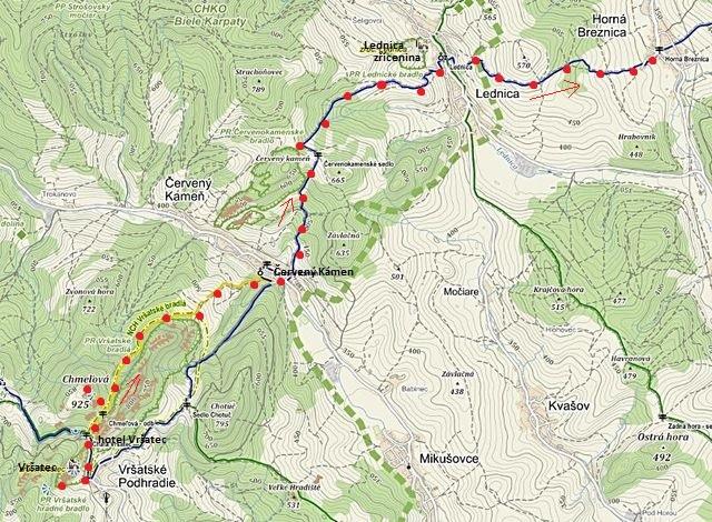trasa z Vršateckého Podhradí přes Červený Kámen a Lednicu do Horní Březnice 25.9.2014