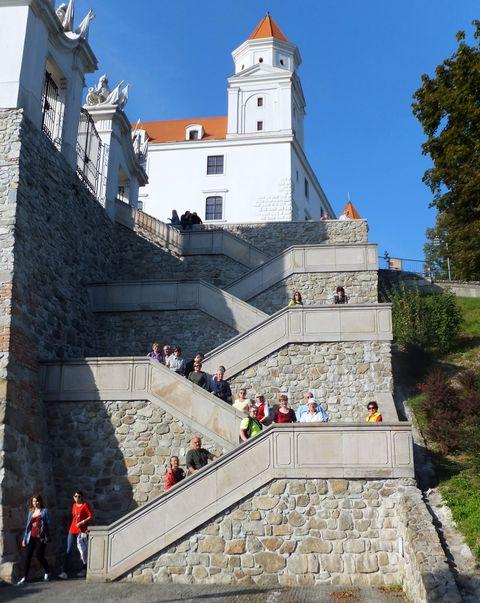 výstup na hradní vrch; foto Iva