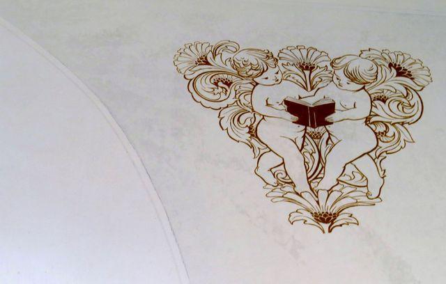 detail výzdoby kaple v Metánově