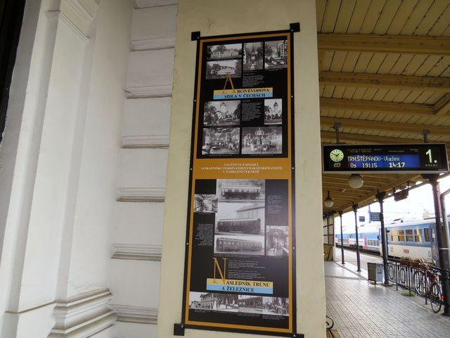 nádraží ČD v Benešově - informace o osudu arcivévody