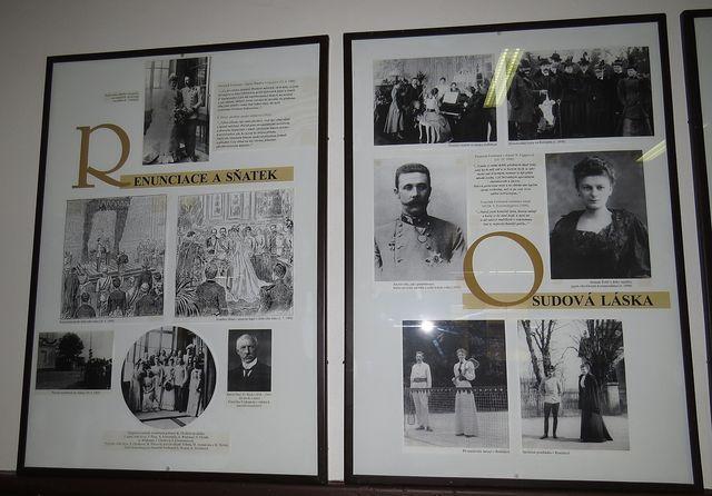 informační panely podávají ucelený obraz o rodině Františka Ferdinanda