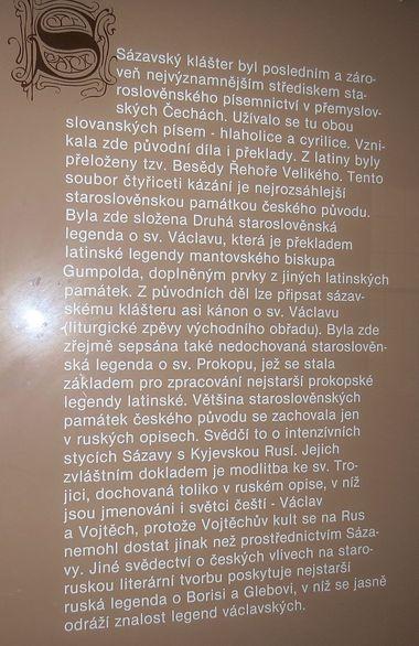 klášter měl nesmírný kulturní význam