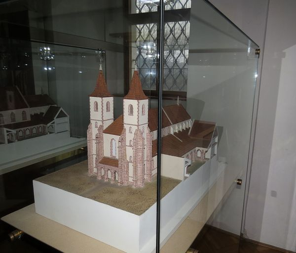 model klášterního kostela - stavební záměr