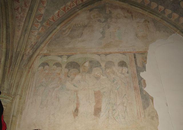 fresky jsou z doby vlády Karla IV.