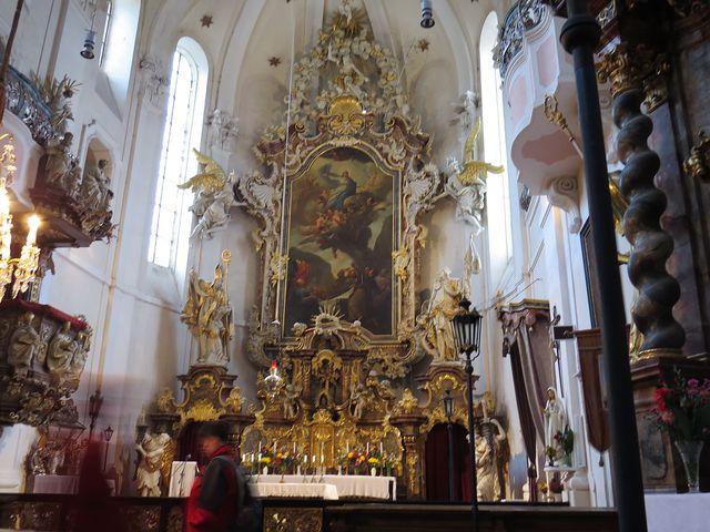 oltář kostela sv. Prokopa