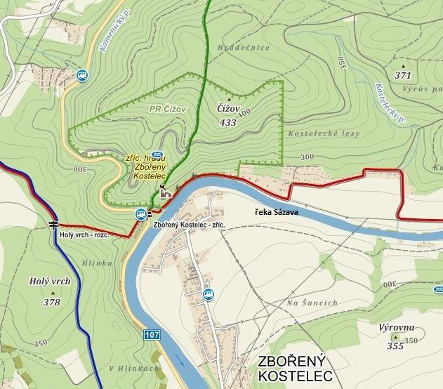 výstup na zříceninu hradu a vycházka přírodní rezervací Čížov
