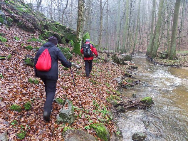 začneme stoupat na ostroh k Bukovině