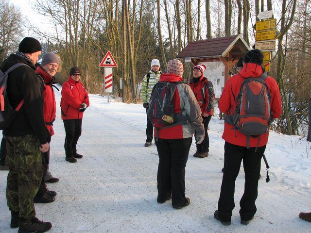 Míla Bradová informovala v Jihlávce o průběhu připravené trasy; foto F. Janeček