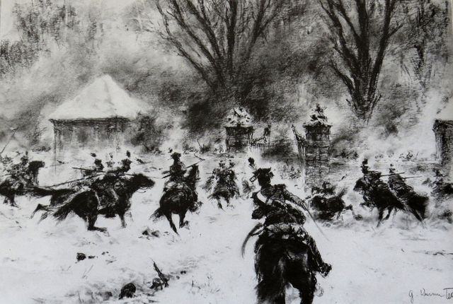 Napoleonské války - Bitva u Karlova lesa poblíž Pávova v prosinci roku 1805