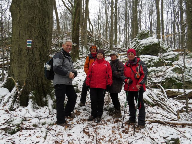 národní přírodní rezervace Velký Špičák nás přijala s důstojným chladem