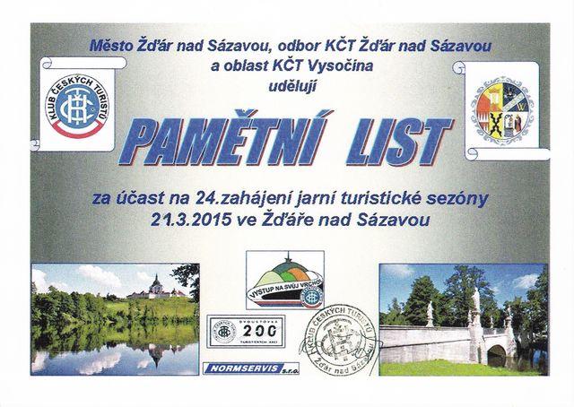 vzpomínka na ZJTS ve Žďáru nad Sázavou 2015