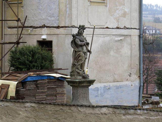 socha sv. Jiří je velmi pravděpodobně dílem Alexandra Jelínka