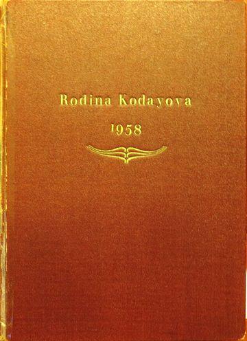 kronika rodu Kodayů dokončená v roce 1958