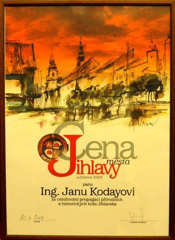 Cena města Jihlavy z roku 2003