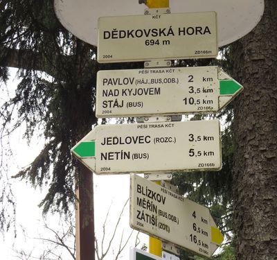 do Měřína je to po žluté značce 6,5 km