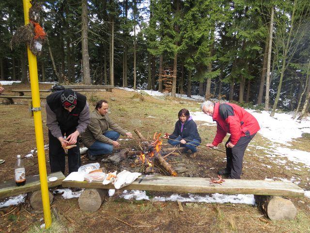 oběd na Dědkovské hoře