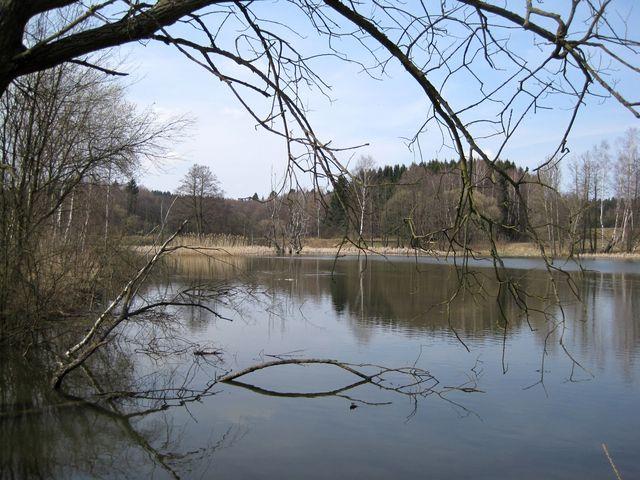 jeden z Lomových rybníků u Hlinska