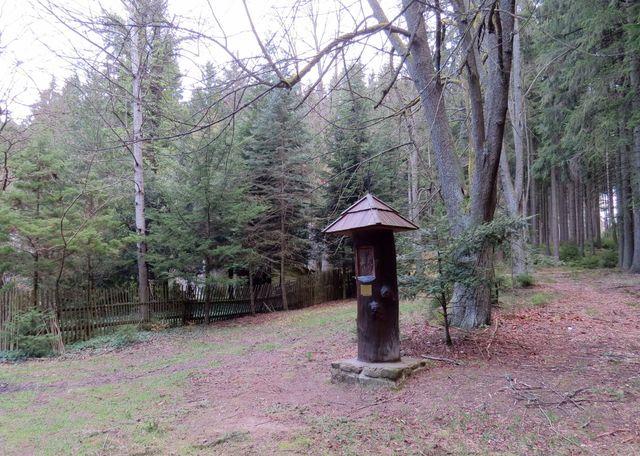 místo setkání se sv. Hubertem je u Kamenné hájenky