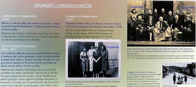 infotabule věnovaná Leopoldině a Elisabetě, sestrám Eleonory a jejímu bratrovi