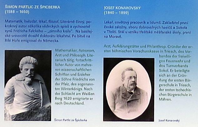 dvě významné osobnosti z Třeště - Šimon Partlic a Josef Konarovský