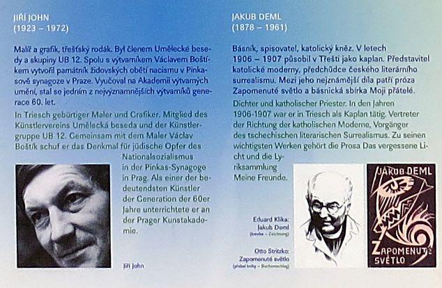 Jiří John, malíř, a Jakub Deml, básník a kněz, který v letech 1906-7 působil v Třešti jako kaplan