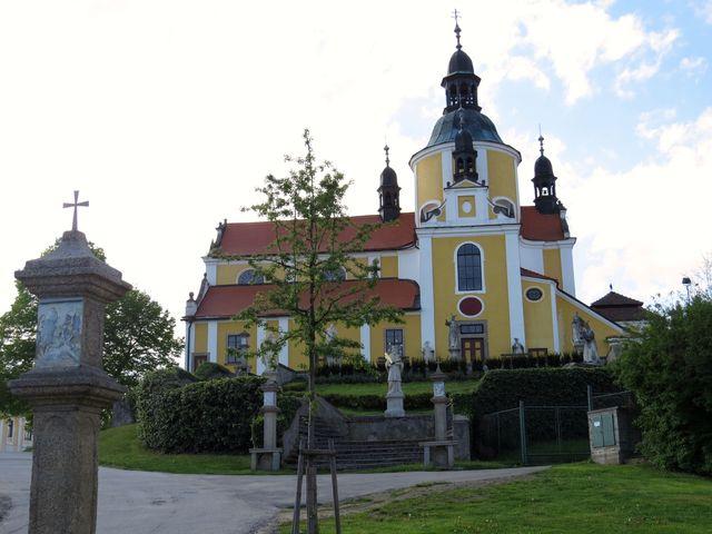 poutní kostel Nanebevzetí Panny Marie v Chlumu u Třeboně